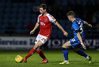 Fleetwood Town's Nathan Sheron competing with Gillingham's Mark Byrne<br /> <br /> Photographer Andrew Kearns/CameraSport<br /> <br /> The EFL Sky Bet League One - Gillingham v Fleetwood Town - Saturday 3rd November 2018 - Priestfield Stadium - Gillingham<br /> <br /> World Copyright &copy; 2018 CameraSport. All rights reserved. 43 Linden Ave. Countesthorpe. Leicester. England. LE8 5PG - Tel: +44 (0) 116 277 4147 - admin@camerasport.com - www.camerasport.com