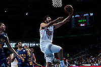 SPAIN, Madrid: Real Madrid's Spanish player Sergio Llull during the Liga Endesa Basket 2014/15 match between Real Madrid and Ucam Murcia, at Palacio de los Deportes in Madrid on November 16, 2014. /NortePhoto<br />