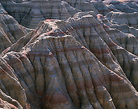 67SDBD_103 - USA, South Dakota, Badlands National Park, North Unit, Soft, eroded clay formations at White River Valley Overlook.