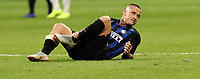 Calcio, Serie A: Inter Milano - AC Milan , Giuseppe Meazza stadium, .October 21, 2018.<br /> Inter's Radja Nainggolan reacts during the Italian Serie A football match between Inter and Milan at Giuseppe Meazza (San Siro) stadium, October 21, 2018.<br /> UPDATE IMAGES PRESS/Isabella Bonotto