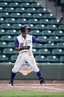Joel Booker (28) of the Winston-Salem Dash at bat against the Salem Red Sox at BB&T Ballpark on July 23, 2017 in Winston-Salem, North Carolina.  The Dash defeated the Red Sox 11-10 in 11 innings.  (Brian Westerholt/Four Seam Images)