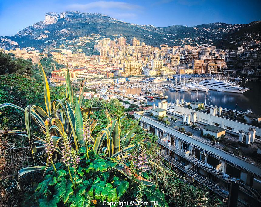 Kingdom of Monaco, Surrounded by French Cote d'Azur, Mediterranean Sea & Corniches