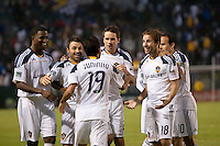 CARSON, CA – OCTOBER 24: LA Galaxy team celebration during a soccer match at the Home Depot Center, October 24, 2010 in Carson, California. Final score LA Galaxy 2, Dallas FC 1.