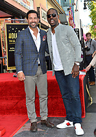 LOS ANGELES, CA. March 25, 2019: Jon Huertas & Sterling K. Brown at the Hollywood Walk of Fame Star Ceremony honoring actress & singer Mandy Moore.<br /> Pictures: Paul Smith/Featureflash