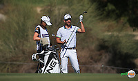 Alejandro Canizares (ESP) plays up the 3rd during the Final Round of the 2016 Omega Dubai Desert Classic, played on the Emirates Golf Club, Dubai, United Arab Emirates.  07/02/2016. Picture: Golffile | David Lloyd<br /> <br /> All photos usage must carry mandatory copyright credit (&copy; Golffile | David Lloyd)