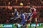 Cristhian Stuani of Middlesbrough heading the ball towards the goal - Sky Bet Championship - Middlesbrough vs Birmingham City - Riverside Stadium - Middlesbrough - England - 12th of December 2015 - Picture Jamie Tyerman/Sportimage
