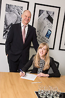 Senior Partner Andy Mattews (left) with Charlotte Chapman from Gateley plc Nottingham