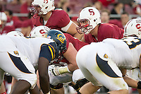 Stanford, CA -- November 23, 2013:  Stanford's Evan Crower during a game against Cal at Stanford Stadium. Stanford defeated Cal 63-13.