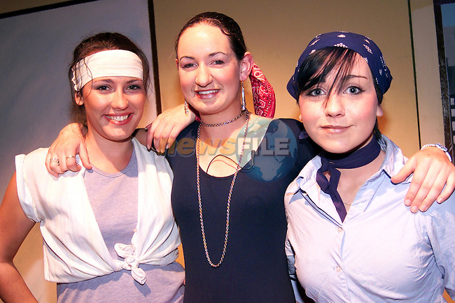 Aileen Donegan, Laura Rooney and Alana Murphy who took part in the Sacred Heart's performance of 'Fame' in the parochial centre..Picture: Paul Mohan/Newsfile
