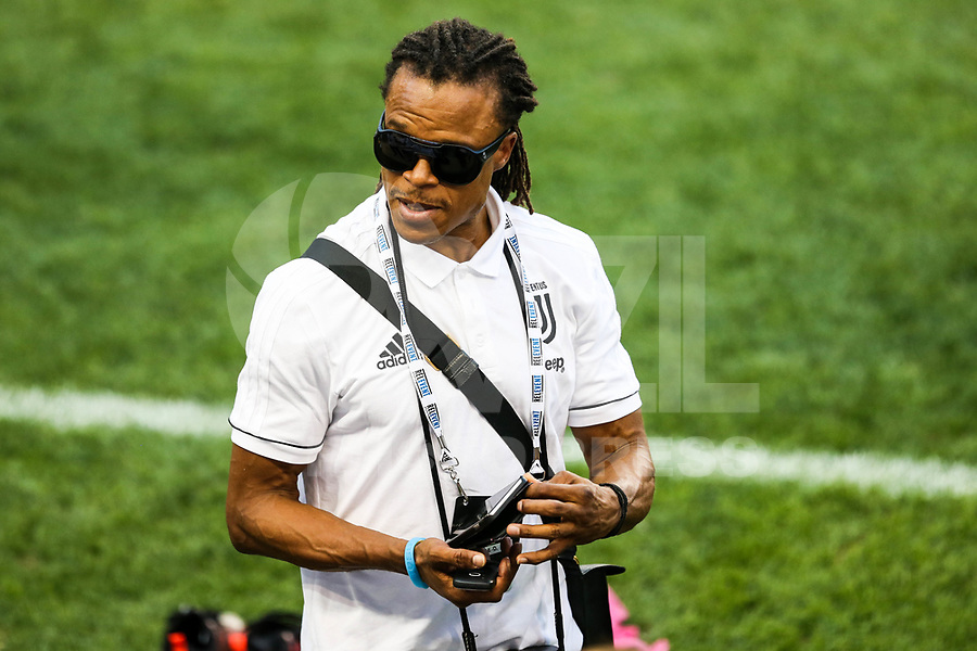 HARRISON, EUA, 21.07.2017 - BARCELONA-JUVENTUS - O ex jogador holandês Edgar Steven Davids  durante treino da Juventus um dia antes da partida contra o Barcelona pela International Champions Cup na Red Bull Arena na cidade de Harrison nos Estados Unidos nesta sexta-feira, 21. (Foto: William Volcov/Brazil Photo Press)