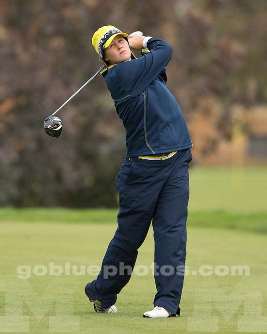 The University of Michigan women's golf team finished in first place (tie) at the Wolverine Invitational at the UM Golf Course in Ann Arbor, Mich., on September 23, 2012.