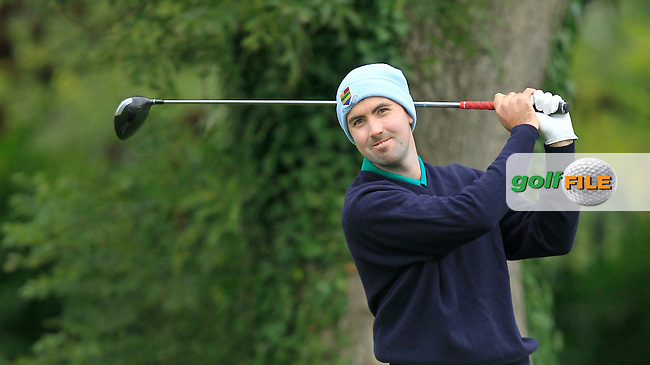 Niall Kearney (Royal Dublin G.C) on the 1st during Round 3 of The Cassidy Golf 103rd Irish PGA Championship in Roganstown Golf Club on Saturday 12th October 2013.<br /> Picture:  Thos Caffrey / www.golffile.ie