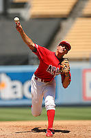 August 9 2008: David Heller participates in the Aflac All American baseball game for incoming high school seniors at Dodger Stadium in Los Angeles,CA.  Photo by Larry Goren/Four Seam Images
