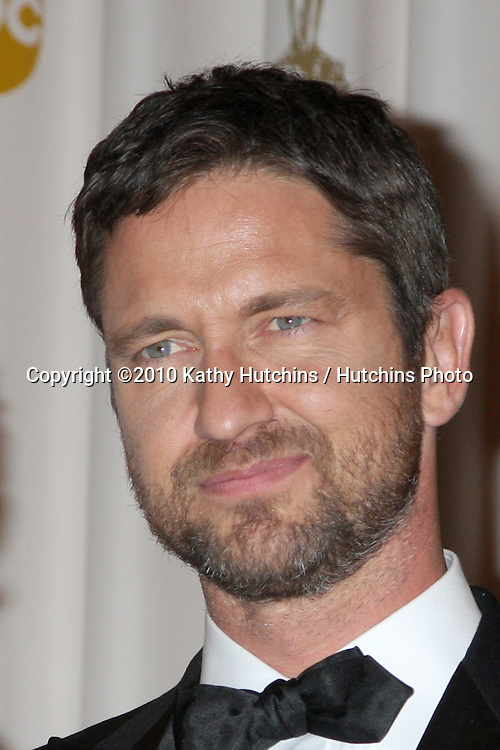 Gerard Butler.in the Press Room of the 82nd Academy Awards.Kodak Theater.Los Angeles, CA.March 7, 2010.©2010 Kathy Hutchins / Hutchins Photo....