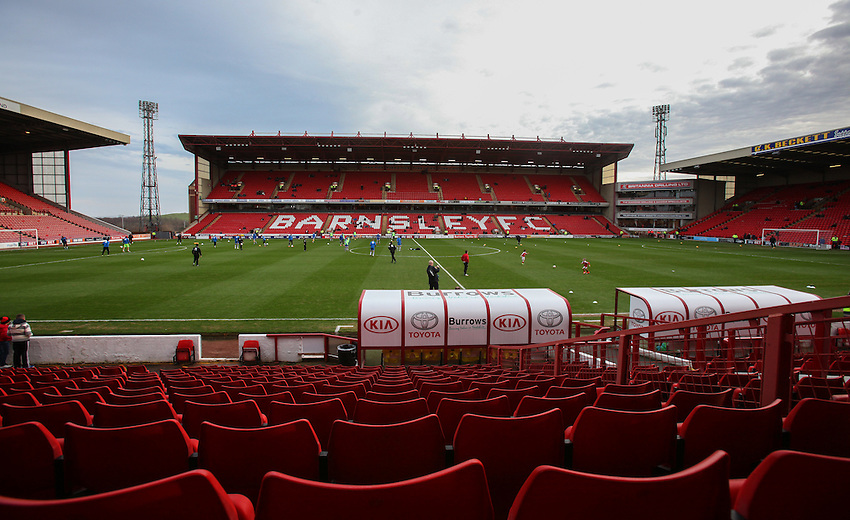 A general view of Oakwell, home of Barnsley.<br /> <br /> Photographer Alex Dodd/CameraSport<br /> <br /> Football - The Football League Sky Bet League One - Barnsley v Rochdale - Saturday 23rd January 2016 - Oakwell Stadium - Barnsley    <br /> <br /> &copy; CameraSport - 43 Linden Ave. Countesthorpe. Leicester. England. LE8 5PG - Tel: +44 (0) 116 277 4147 - admin@camerasport.com - www.camerasport.com