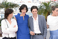 Catherine Corsini, Clotilde Hesme and Raphael Personnaz attending theTrois Mondes Photocall during the 65th annual International Cannes Film Festival in Cannes, France, 25.05.2012...Credit Timm/face to face / Mediapunchinc