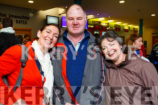 London bound from Kerry Airport on Friday evening last are, l to r, heresa Grimes (Listowel), Thomas and Margaret Wharton (Tralee) with the Tralee Parkrun.