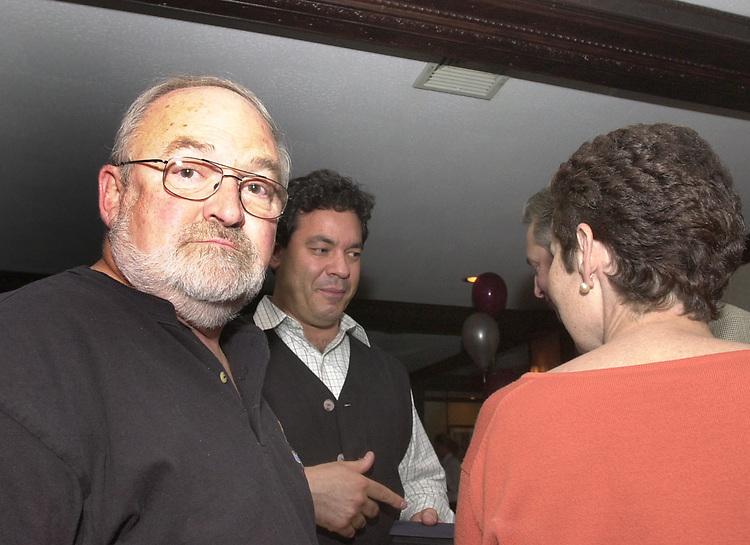 Don Jacobsen and Ari Mintz, seen attending the retirement party for John Cornell on October 10, 2000. Photo by Jim Peppler. Copyright/Jim Peppler-2000