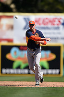Houston Astros infielder Matt Duffy (72) during a Spring Training game against the Toronto Blue Jays on March 9, 2015 at Florida Auto Exchange Stadium in Dunedin, Florida.  Houston defeated Toronto 1-0.  (Mike Janes/Four Seam Images)