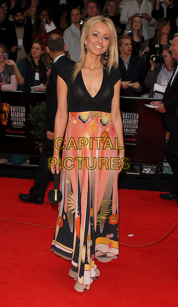 SAMMY WINWARD.Arrivals at the Pioneer British Academy Television Awards 2006 at the Grosvenor House Hotel, London, UK..May 7th, 2006 .Ref: CAN.BAFTA TV.full length black pattern dress print peach pink.www.capitalpictures.com.sales@capitalpictures.com.©Capital Pictures
