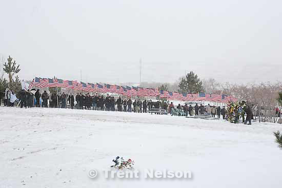 Aaron Nemelka, who was killed in the Ft. Hood massacre, was laid to rest at the Utah Veterans Memorial Park, Saturday, November 14 2009.