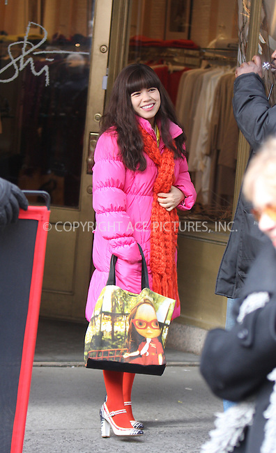WWW.ACEPIXS.COM . . . . .  ....February 10 2009, New York City....Actress America Ferrera on the set of the TV show 'Ugly Betty' on the Upper East Side of Manhattan on February 10 2009 in New York City....Please byline: AJ Sokalner - ACEPIXS.COM..... *** ***..Ace Pictures, Inc:  ..tel: (212) 243 8787..e-mail: info@acepixs.com..web: http://www.acepixs.com