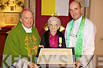 PAPAL HONOUR: Mary Hayes O'Sullivan who received the Papal Medal 'Bene Merenti' for her services to the parish of Milltown-Listry Parish being presented with the honour at a special Mass in Milltown on Saturday night by Bishop Bill Murphy and Fr Pat O'Donnell.
