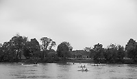 Mortlake/Chiswick. Greater London. London. 2017 Bourne Regatta At Chiswick Bridge. Course, Runs from and to Mortlake Anglian and Alpha Boathouse, dependent on the Tide Direction. Chiswick.  River Thames. <br /> <br /> General view, at the start of an &quot;Double Sculls&quot; Race at Chiswick Bridge <br /> <br /> Saturday  06/05/2017<br /> <br /> [Mandatory Credit Peter SPURRIER/Intersport Images]