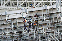 SÃO PAULO,SP,11.04.2014 - VISTORIA ARENA CORINTHIANS - Canteiro de obras da Arena Corinthians em Itaquera, nesta sexta-feira, 15. (Foto Ale Vianna/Brazil Photo Press).