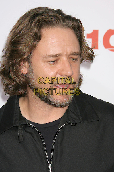 """RUSSELL CROWE.""""3:10 To Yuma"""" Los Angeles Premiere held at the Mann National Theater, Westwood, California, USA..August 21st, 2007.310 three ten headshot portrait beard facial hair mouth open.CAP/ADM/RE.©Russ Elliot/AdMedia/Capital Pictures"""