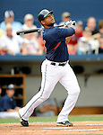11 March 2008: Cleveland Indians' third baseman Andy Marte at bat during a Spring Training game against the Detroit Tigers at Chain of Lakes Park, in Winter Haven Florida. The Tigers rallied to defeat the Indians 4-2 in the Grapefruit League matchup...Mandatory Photo Credit: Ed Wolfstein Photo