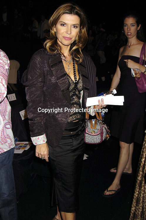 Finola Hughes..at the Fashion For Relief Fashion Show Benefit on September 16, 2005 at The Tents at the Olympus Fashion Week with money to be donatted to AmeriCares. ..Photo by Robin Platzer, Twin Images