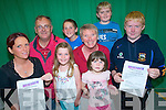 Preparations are underway to hold a novel mice race night in Glenbeigh to raise funds for the Glenbeigh Sporthall. .Back L -R Muireann O'Donovan, Michael Burke, Patricia Griffin and Eoghan McGuillicuddy. .Front L-R Oisi?n McGuillicuddy, Seodhla O'Donovan, Rian O'Donovan and Aoibhi?n O'Donovan.