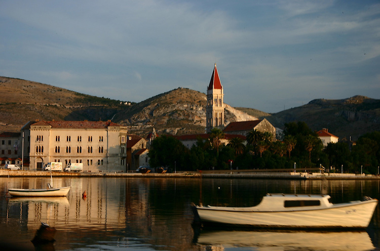 Trogir harbor at sunrise