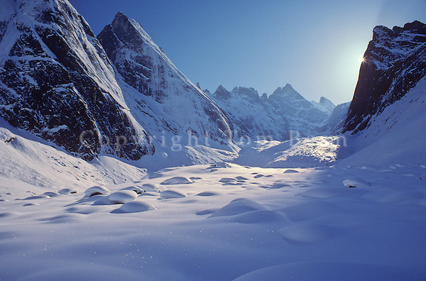 Winter in the Arrigetch Peaks, in the Brooks Range at Gates of the Arctic National Park, Alaska, TomBean_Pix_0731.