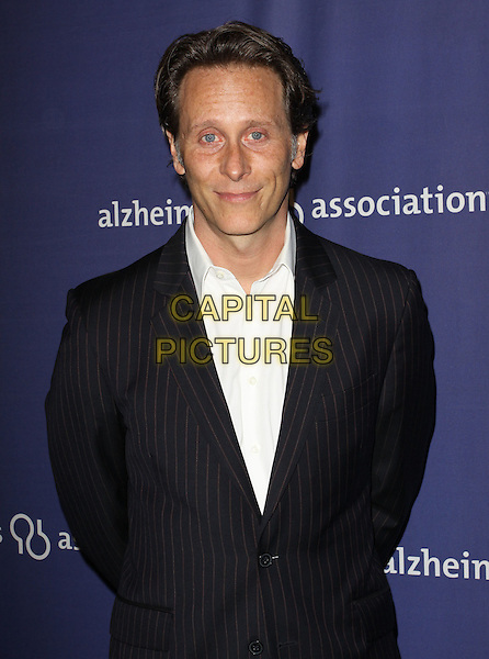 "STEVEN WEBER.18Th Annual ""A Night at Sardi's"" Benefitting The Alzheimer's Association held At The Beverly Hilton Hotel, Beverly Hills, California, USA..March 18th, 2010.half length black suit white shirt .CAP/ADM/KB.©Kevan Brooks/AdMedia/Capital Pictures."