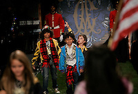 LOS ANGELES,CA - OCTOBER 15,2008: Christian Audigier clothes on the runway during the Mercedes-Benz LA Fashion Week Spring 2009 at Smashbox Studios, Culver City, CA.