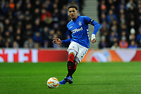 James Tavernier of Rangers during Rangers vs Villarreal CF, UEFA Europa League Football at Ibrox Stadium on 29th November 2018