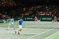 ABN AMRO World Tennis Tournament, Rotterdam, The Netherlands, 19 Februari, 2017, Ivan Dodig (CRO), Marcel Granollers (ESP), Wesley Koolhof (NED), Matwe Middelkoop (NED)<br /> Photo: Henk Koster