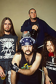 Pantera - L-R: Rex, Vinnie Paul, Phil Anselmo, Dimebag Darrell -   backstage at the Civic Hall, Wollverhampton, England - 15 Sep 1994.  Photo by: George Chin /IconicPix