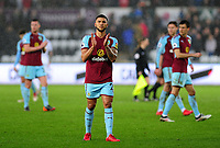 Burnley's Nahki Wells applauds the fans at the final whistle <br /> <br /> Photographer Ashley Crowden/CameraSport<br /> <br /> The Premier League - Swansea City v Burnley - Saturday 10th February 2018 - Liberty Stadium - Swansea<br /> <br /> World Copyright &copy; 2018 CameraSport. All rights reserved. 43 Linden Ave. Countesthorpe. Leicester. England. LE8 5PG - Tel: +44 (0) 116 277 4147 - admin@camerasport.com - www.camerasport.com