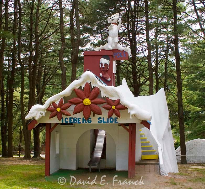 Iceberg Slide at Santa's Land USA in Putney, Vermont