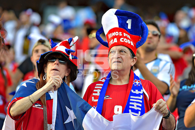Photo before the match Argentina vs Chile corresponding to the Final of America Cup Centenary 2016, at MetLife Stadium.<br /> <br /> Foto previo al partido Argentina vs Chile cprresponidente a la Final de la Copa America Centenario USA 2016 en el Estadio MetLife , en la foto:Fans<br /> <br /> <br /> 26/06/2016/MEXSPORT/ISAAC ORTIZ