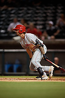 Chattanooga Lookouts Jonathan India (16) at bat during a Southern League game against the Birmingham Barons on July 24, 2019 at Regions Field in Birmingham, Alabama.  Chattanooga defeated Birmingham 9-1.  (Mike Janes/Four Seam Images)