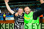 Shane Griffin and Pat O'Driscoll Manager Ardfert cerebrate on the final whistle after defeating Saint Croan's in the Intermediate Football All Ireland Club Final in Croke Park on Saturday.