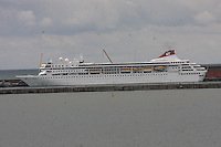 The cruise liner Braemar of the Fred Olsen Cruise Lines docked at the Port of Dover, Kent on 24.5.13.