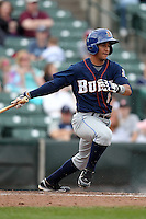 Durham Bulls second baseman Cole Figueroa #3 during a game against the Empire State Yankees at Frontier Field on May 13, 2012 in Rochester, New York.  Durham defeated Empire State 3-1.  (Mike Janes/Four Seam Images)
