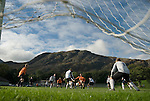 Coniston v Penrith, 20/09/2008. Westmorland League. The Coniston keeper saves the last kick of the game. Photo by Paul Thompson.