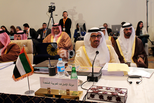 The United Arab Emirates Foreign Minister Sheikh Abdullah bin Zayed Al Nahyan attends a meeting of Arab foreign ministers in the Egyptian Red Sea resort of Sharm El-Sheikh on March 26, 2015, ahead of the annual Arab League summit. The foreign ministers of Egypt and Kuwait said it was necessary to intervene in Yemen after Huthi rebels threatened the southern port of Aden. Both countries had expressed support for Saudi-led air strikes overnight against the Iran-backed rebels. Photo by Stringer