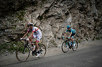 Fabio Aru (ITA/UAE-Emirates) up the Col de l'Iseran (HC/2751m/13km@7.3%) <br /> > where the race was eventually stopped (at the top) because of landslides further up the road (after a severe hail storm in Tignes)<br /> <br /> Stage 19: Saint-Jean-de-Maurienne to Tignes (126km)<br /> 106th Tour de France 2019 (2.UWT)<br /> <br /> ©kramon